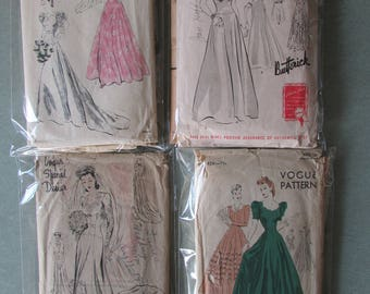 1940s Wedding Gown Bridal Patterns