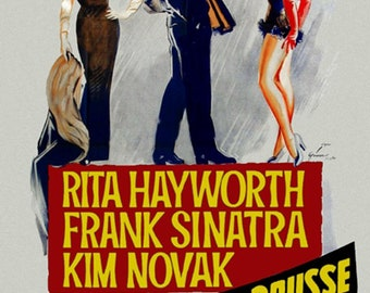 Pal Joey 1957 Rita Hayworth Frank Sinatra musical movie poster reprint 19x12.5 inches