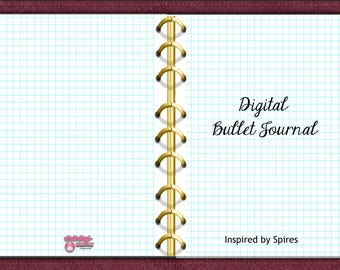 Digital Bullet Journal, Burgundy