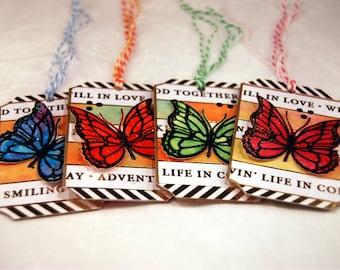 Mixed Media Set of 4 Gift Tags