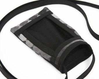 iPhone 6 Fabric Cell Phone Pouch, Cross Body Bag, Smart Phone Pouch, Women's Accessories, Cell Phone Purse, Mini Cross Body Bag, Diamond