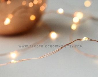 20 led 7 ft copper lights waterproof battery operated wedding. Black Bedroom Furniture Sets. Home Design Ideas