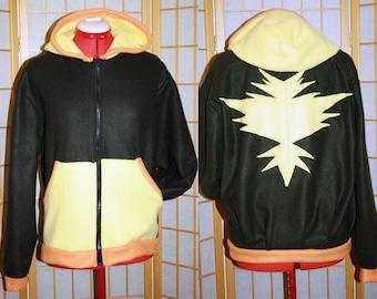 Pokemon GO - Team Instinct Hoodie jacket cosplay costume coat handmade