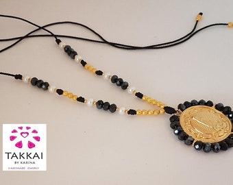 Lady Guadalupe Pendant , Catholic Necklace Lady Guadalupe Pearls. Religious Necklace, Virgin Charm, Lady Guadalupe Necklace, Mexican Jewelry