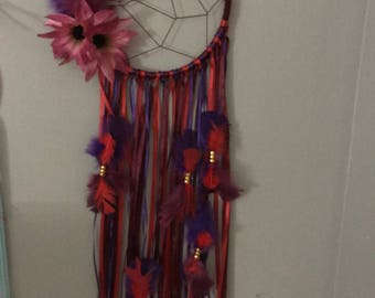 Maroon purple and red dream catcher