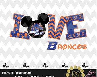 LOVE Boise State svg,png,dxf,cricut,silhouette,college,jersey,shirt,proud,cutting,university,football,broncos,idaho,basketball,baseball