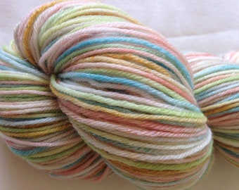 Hand dyed sparkle sock yarn 100g merino / nylon / stellina in Party For The Elves colourway