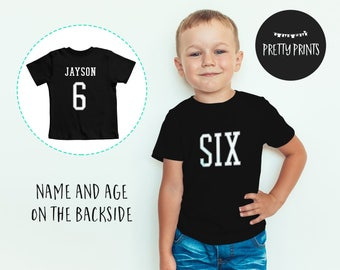 Personalized boys 6th birthday outfit, 6th birthday shirts for boys, 6th birthday t shirt for boys, personalized 6th birthday shirt