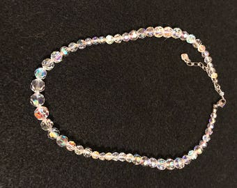 Vintage Aurora Borealis Beaded Necklace
