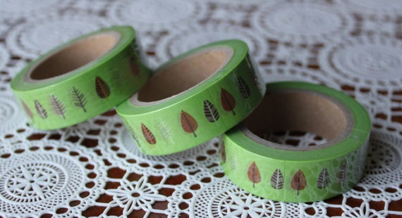Scrapbook Supplies- 1 roll. Washi Tape. Little Trees - Little Laser Lab