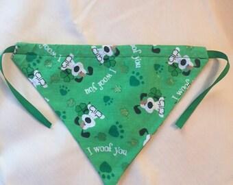 St. Patrick's Day small dog bandana