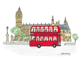 London Icons - Art Print 5x7, 8x10, 11x14