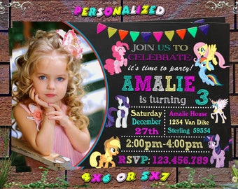 My Little Pony, My Little Pony  Girls,My Little Pony Birthday, My Little Pony Party, My Little Pony Card,My Little Pony Invitation
