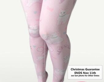 Kawaii Fairy Kei Lolita Tights Stockings Pastel Lamb Danilamb Sheep Bows Bubbles Hearts Cute Lamb Size XS Through 3XL *Made 2 Order*
