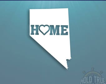 Nevada Decal - PICK COLOR and SIZE - Nevada Home Decal - Nv Decal - Nevada Car Decal - Nevada sticker - Nevada Window Decal - Nevada