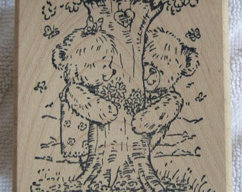 Penny Black wood mounted rubber stamp Rambling Love 358J from the Michael Woodward Collection