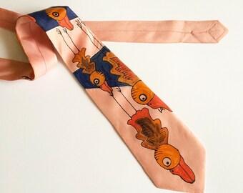 Designer silk Tie - Mens cool Tie - cool wedding tie hand-painted