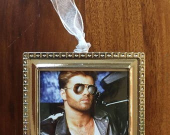 George Michael FAITH Silver Metal Ornament