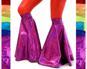 Holographic Flared Boot Covers Rave Festival EDM - 154242