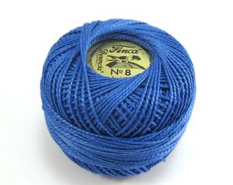 Finca Perle Cotton Thread Pearl Cotton - Dark Delft Blue
