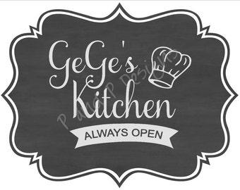 GeGe's Kitchen SVG & PNG - Instant Download