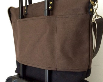 CUSTOM LUGGAGE STRAP Option | For Trolley Suitcase | Carry On Travel Bag | Add To Your Waxed Canvas and Leather Bag