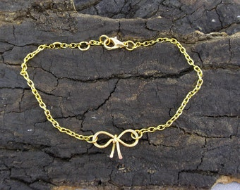 Bracelet Bow gilded Bridesmaids marriage Witness