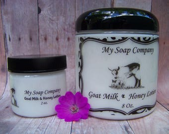 PEARBERRY Goat Milk Lotion, Hand Lotion, body lotion, Paraben Free, jar of lotion, moisturizer, bridesmaids gift, Mothers Day Gift