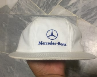 Vintage 90s Retro Mercedes Benz 6 Panel Cap Adjustable Streetwear Hip Hop