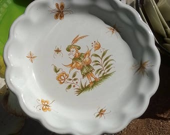 502) decorated plate