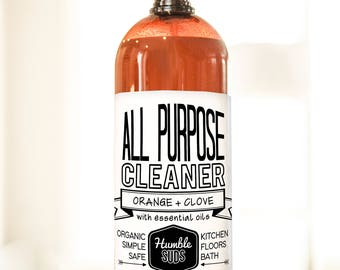 Organic Orange + Clove All Purpose Cleaner
