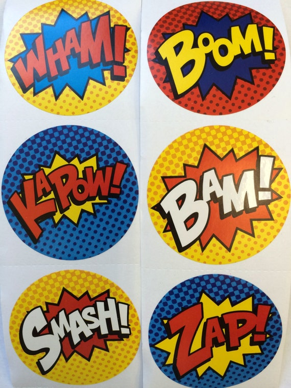 50 super hero stickers party favors envelope seals free