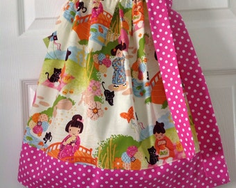 READY TO SHIP- Cute Japanese Girls Pillowcase Dress Size 3