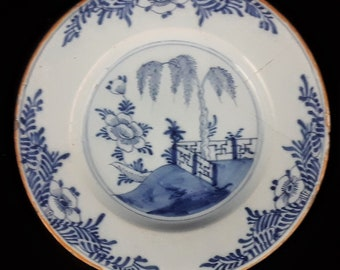 Antique Dutch DELFT Blauw Chinoiserie ... & Chinoiserie plates | Etsy