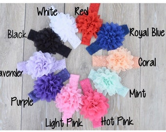 Flower Headband Lace Headband With Flower 1 Size - Add To Any Outfit