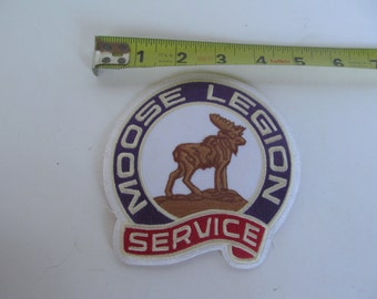Embroidered Patch - Moose - Legion  unused - vintage Patch