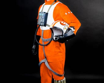 Star Wars Cosplay Halloween Costume Luke Skywalker Cosplay Costume Men StarWars Pilot Helmet Star Wars Pilot Cosplay Comic Con Cosplay Armor