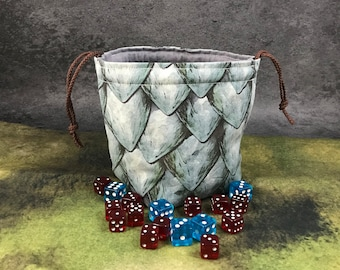 Silver Dragon Scales Dice Bag