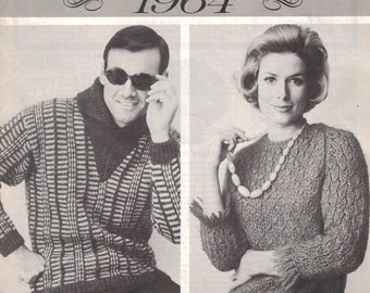 Knitted Sweater Pattern Booklet - Sweater Collection 1964 from Woman's Day