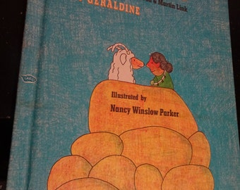 GOAT IN the RUG by Geraldine as told by Charles Blood & Martin Link * Nancy Parker Art! * Vintage Hardcover Book Parents Magazine Press 1976