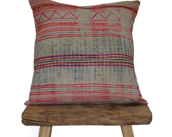 Authentic Vintage Pink Hmong Pillow Covers