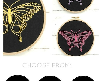 Butterfly Embroidery Kit {black}