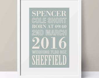 Personalised Announcement Word Art
