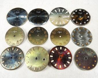 Vintage Watch Faces - set of 12 - c116