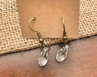 Clear Glass Beaded Earrings