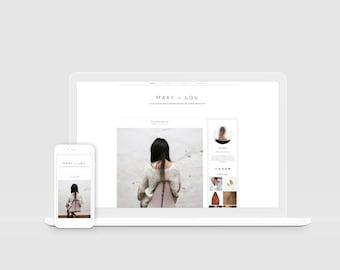 Minimal Blogger Template — Modern Blogger Design — Scandinavian Style — Responsive Blog Design — Clean Template — Lifestyle Blogger / Mary