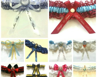 Personalisation Add on Pack for Garters/Ring Pillows-customise your Garter or Ring Pillow