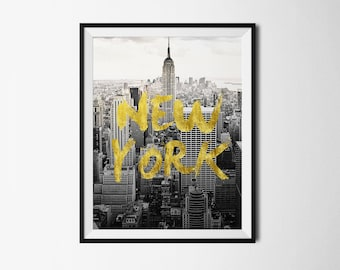 new york, new york city, new york art, new york skyline, new york poster, city poster, Travel Poster, Printable New York, New York print