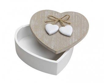Heart can, chest, wooden box, storage, wooden boxes