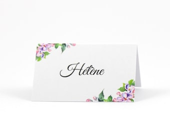 Place card customized easel-shaped cherry flower